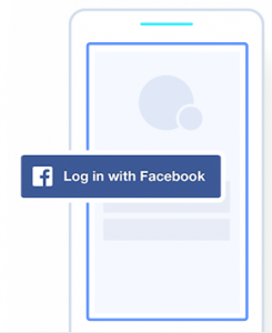 Login with Facebook Graphic